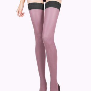 Pink Tights Thigh High Stockings
